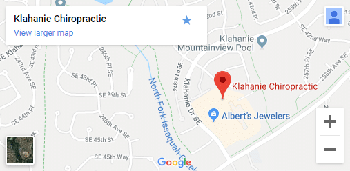 Map of Sammamish WA Chiropractors