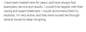 Chiropractic Review John Sammamish WA