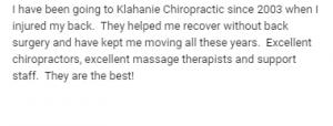 Chiropractic Review Sarah Sammamish WA